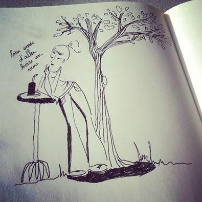 Le printemps ça motive à faire bien des choses ! Illustration réalisé par Piranhabouille pour manque évident de motivation