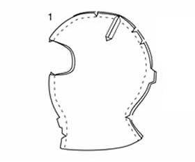 Pattern to make the Ninja mask for Josiah's halloween costume (GreenNinja)