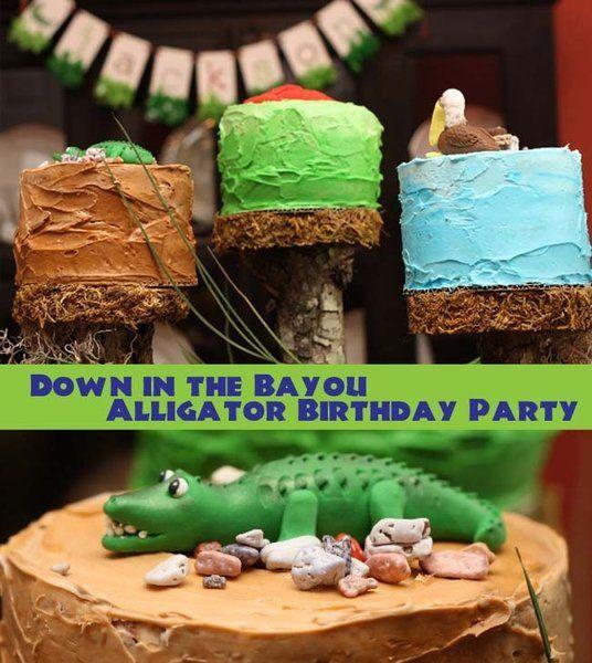 Alligator+Themed+Boy's+First+Birthday+Party