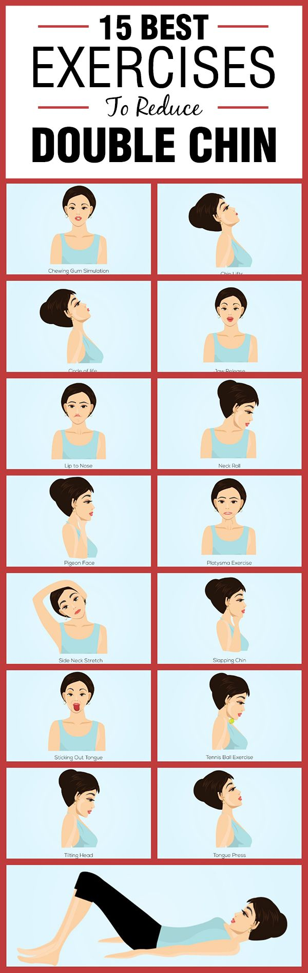 15 Best Exercises To Reduce Double Chin