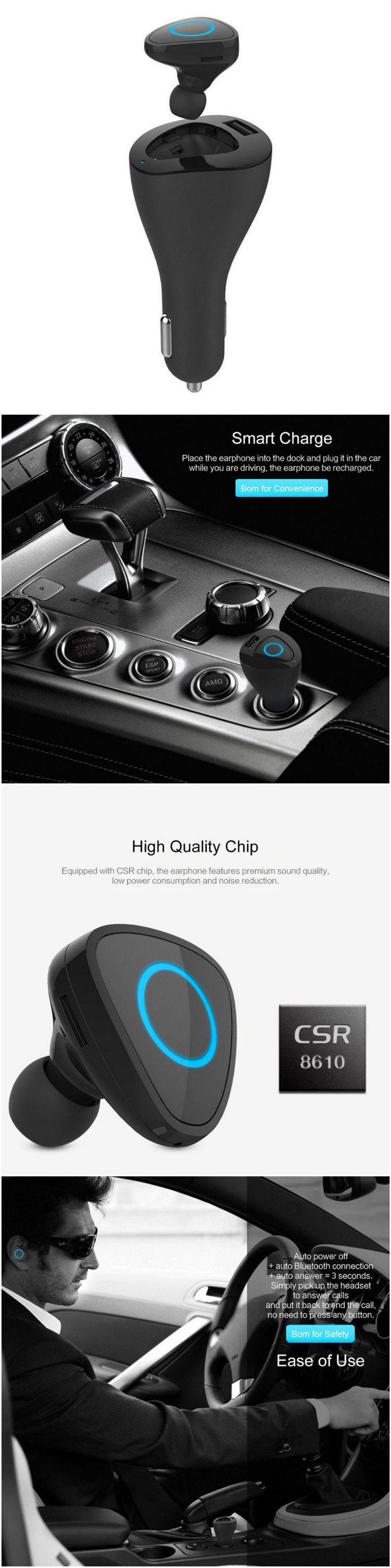 New Bluetooth wireless driving headset earphones with convenient controls #Technology