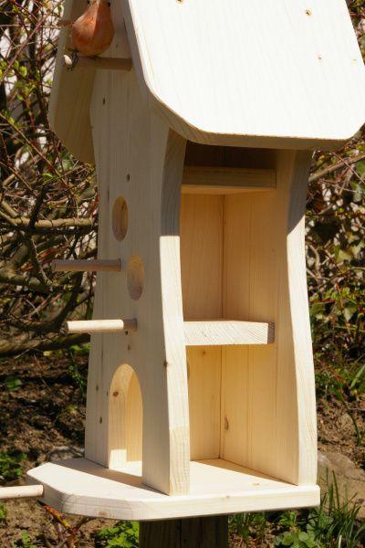 *Vogelhaus zum Selbstbemalen* *Unbemalt*  Sinnvolle und nutzvolle Dekoration für Ihren Garten,Balkon,Terrasse.  Aus gehobeltem Kiefer/Fichtenleimholz in sorgfälltiger Handarbeit...