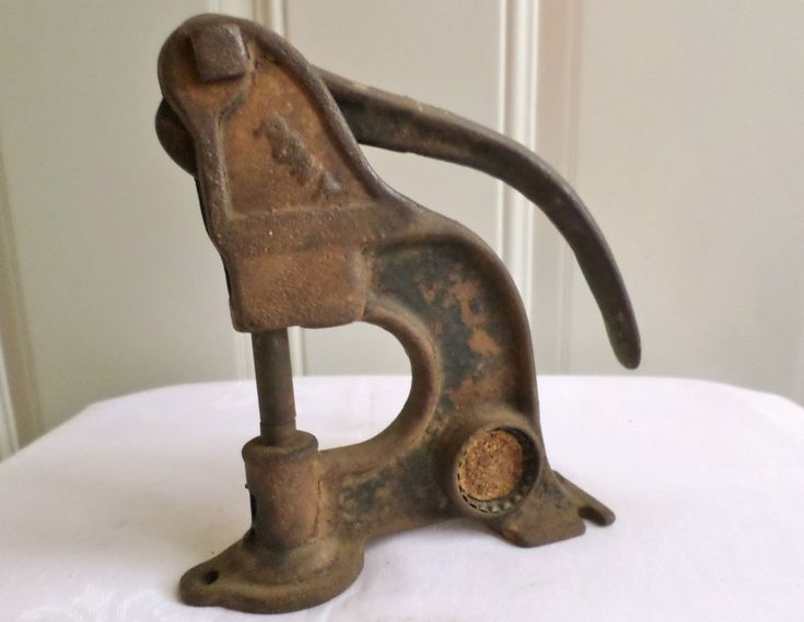 Antique vintage cast iron pony riveter leather rivet press