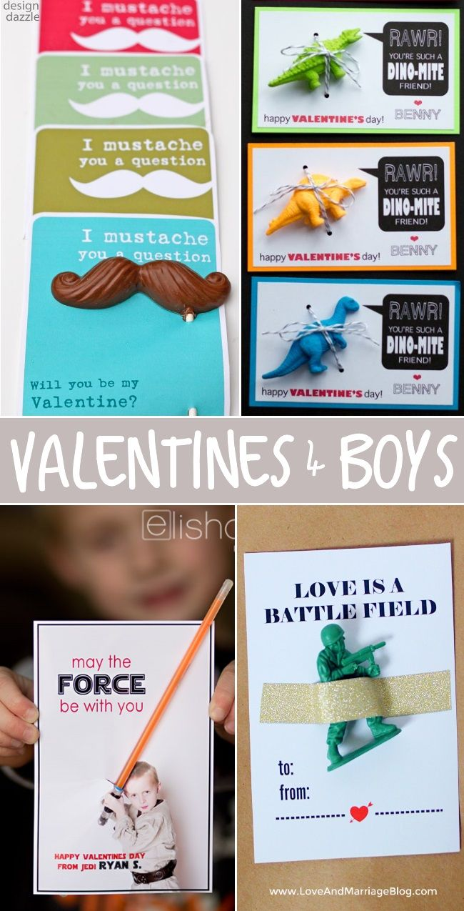 Lots of fun Valentine's for boys! No pink glitter or hearts here!