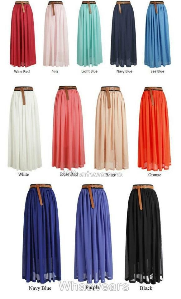 Love them faldas largas!
