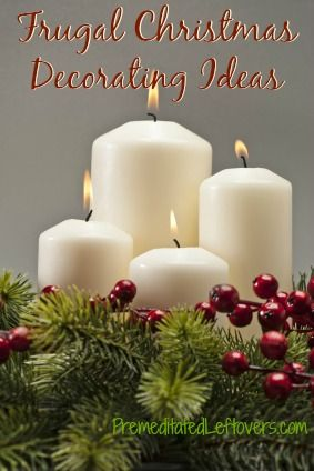 Frugal Christmas Decorating Ideas - tips for decorating for Christmas on a budget.