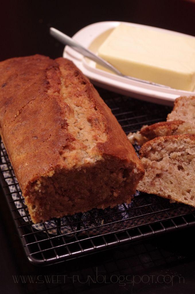 Słodkie Przyjemności: Najprostszy chleb bananowy