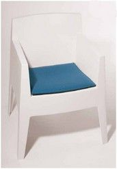 zitkussen voor stoel Toy van Philippe Starck. designstoel -kussen voor de armstoel Toy.  Eigenschappen  opbouw: 2x3mm dikke wolvilt, gevuld met 10mm zitschuim en antislip-laag onderaan. De onderkant is steeds in antraciet gemêleerd.  afmetingen: 41,2 x 40,2 cm  merk: Parkhaus