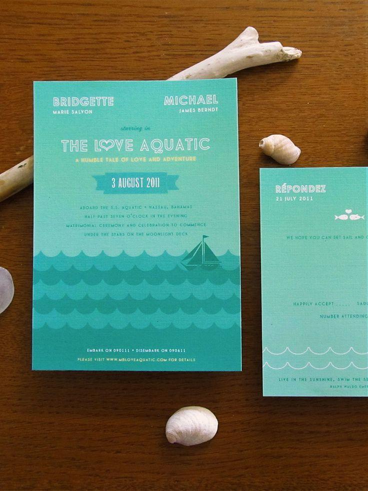 The Love Aquatic Movie Inspired Invitation Boat Wedding