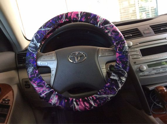 Muddy girl camo steering wheel cover by Nanasewcrafty on Etsy, $15.00