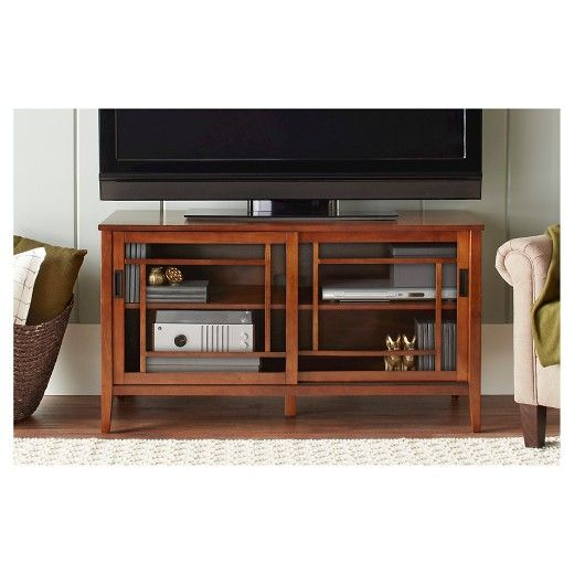 "Luther TV Stand Brown (48"") - Threshold™ : Target"
