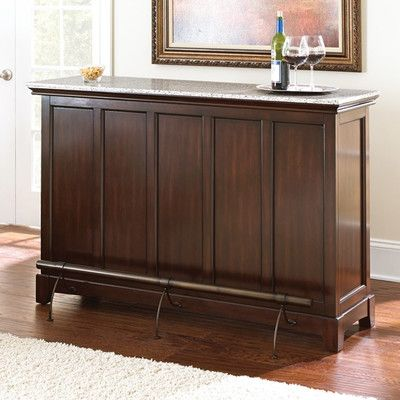 Steve Silver Furniture Newbury Counter Bar with Wine Storage & Reviews | Wayfair