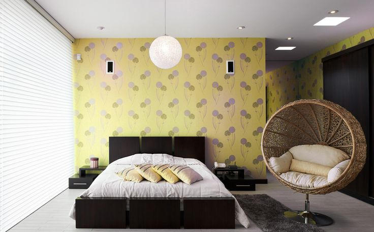 gele slaapkamer kleuren