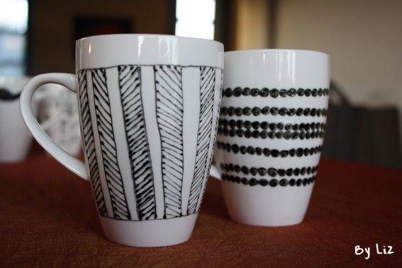Idée DIY - Des mugs personnalisés
