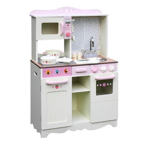 Children Wooden Kitchen Play Set Off White - LetsElude