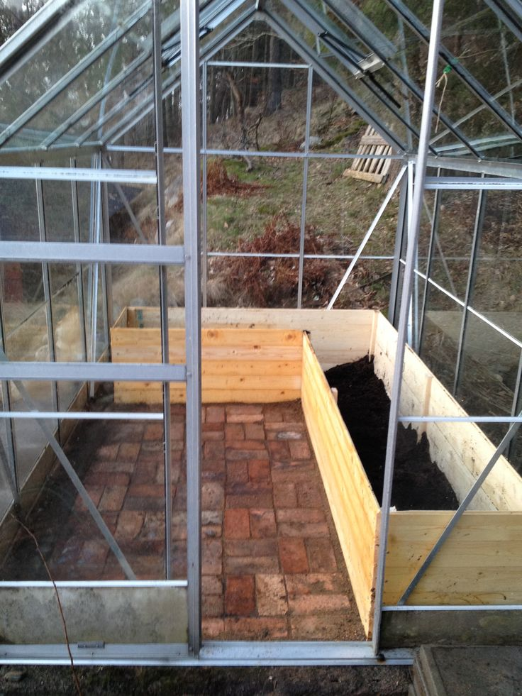 Our greenhouse raised beds brick floor  Gardening  Vxthus