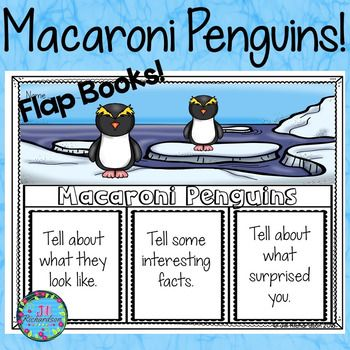 Macaroni Penguins Writing Flap Books!