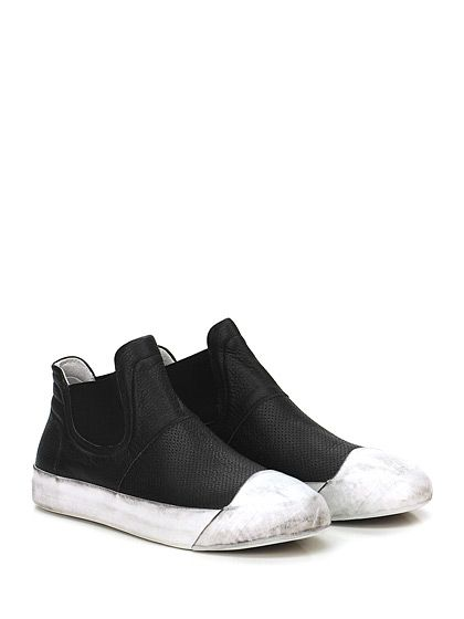 OXS - Sneakers - Uomo - Sneaker in pelle vintage con suola in gomma effetto vintage. Tacco 90, platform 10 con battuta 80. - BLACK - € 229.00
