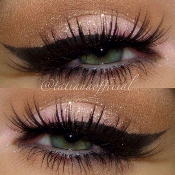 pink glitter eye makeup - Google Search