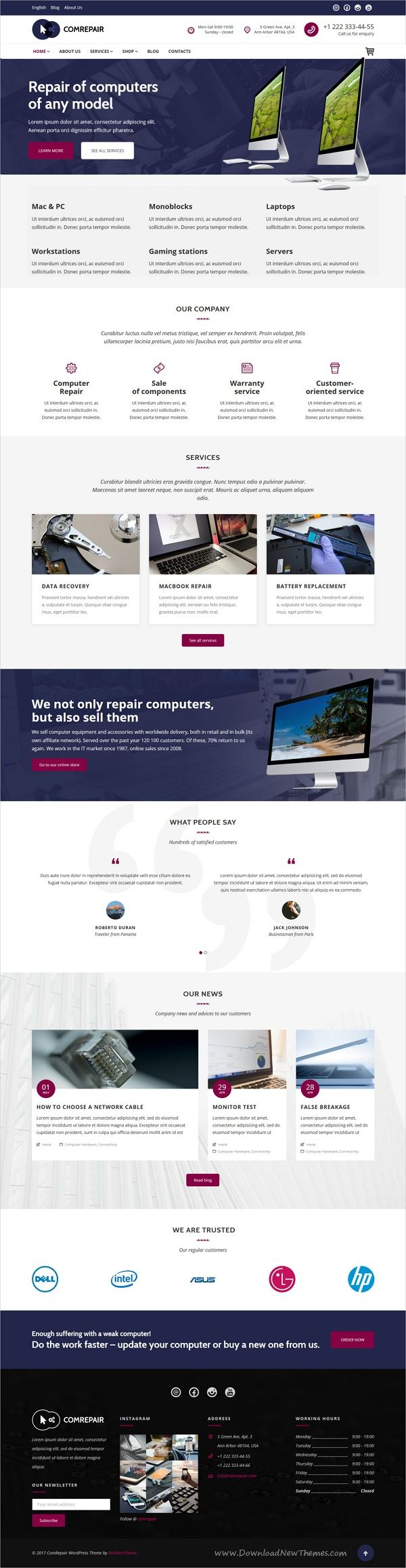 ComRepair is clean and modern design 4in1 responsive #WordPress theme for #electronic and mobile repair #services website download now > https://themeforest.net/item/comrepair-computer-repair-services-wordpress-theme/19836952?ref=Datasata