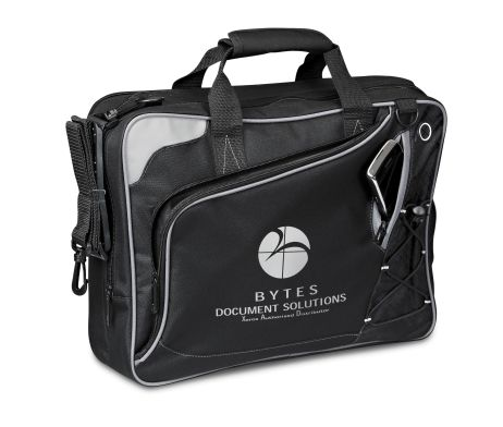 With a modern and unique design, the Bolt Compu-Messenger Bag has plenty to offer. Its features include a main zippered compartment which fits most 15.6″ laptops, a unique zippered compartment for accessories and a small side zippered slit for a phone. With and earbud outlet, adjustable shoulder straps you are able to remove and double handles, there's no shortage of comfort with this bag.