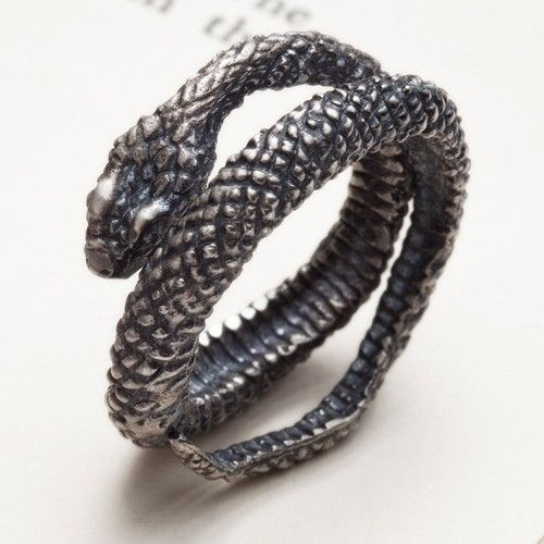 Silver snake ring Snake Charmer RedSofa jewelry door redsofa