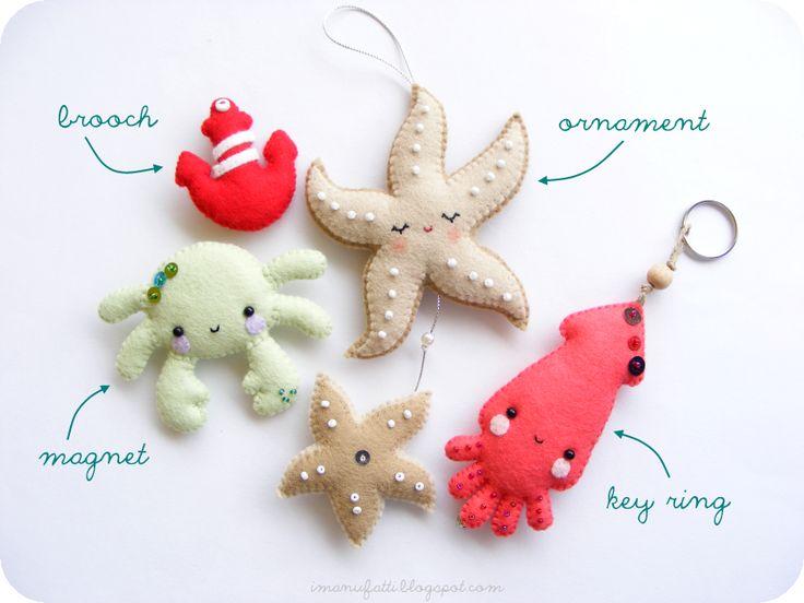 .super cute #felt animals! :-)