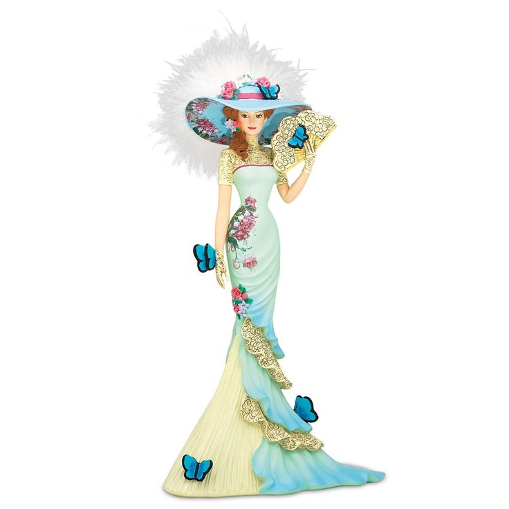 Amazon.com - Lena Liu Lady Figurine From The Hamilton Collection: Charming Intrigue Figurine by The Hamilton Collection -