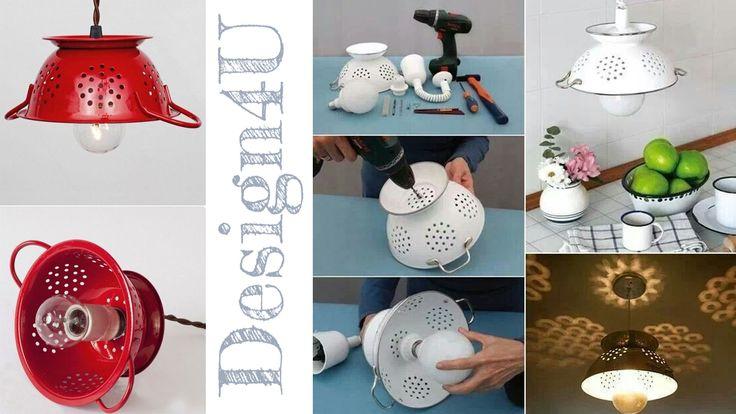 2 min ·  Questa #lampada a sospensione è stata realizzata semplicemente con uno scolapasta. Qui come fare : http://www.design4u.it/…/…/07/lampadario-fai-da-te-diy-lamp/