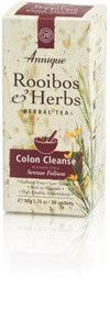 Annique Colon Cleanse Tea is a blend of Rooibos Tea and Senna (Sennea folium) Senna Leaf* is combined with Rooibos to help bring relief from constipation. Combined with Detox tea for an effective weig