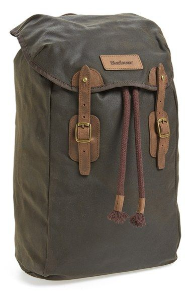 Barbour Waxed Canvas Backpack available at #Nordstrom