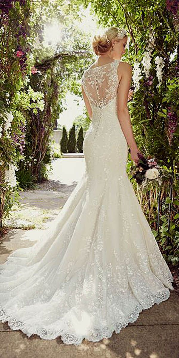 15 Gorgeous Tattoo Effect Wedding Dresses ❤ See more: http://www.weddingforward.com/tattoo-effect-wedding-dresses/ #weddings #dresses