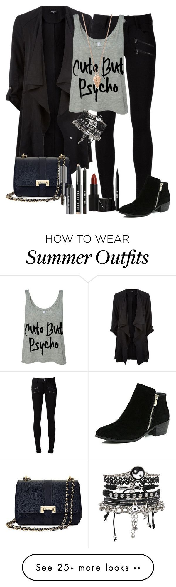 """""""Untitled #37"""" by sophie-harris15 on Polyvore featuring Paige Denim, Aspinal of London, ASOS, River Island, NARS Cosmetics, Pamela Love, Bobbi Brown Cosmetics and Stila"""