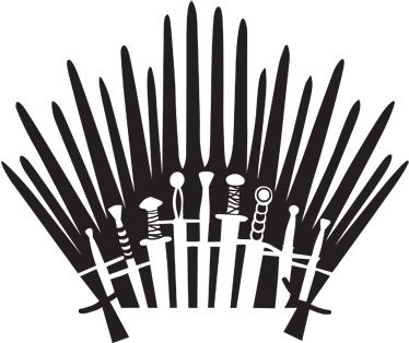 Iron Throne Silhouette Sticker WC Game of Thr...