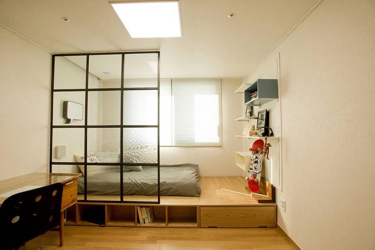 아파트속 모던 갤러리를 꿈꾼다: (주)바오미다의 모던 침실