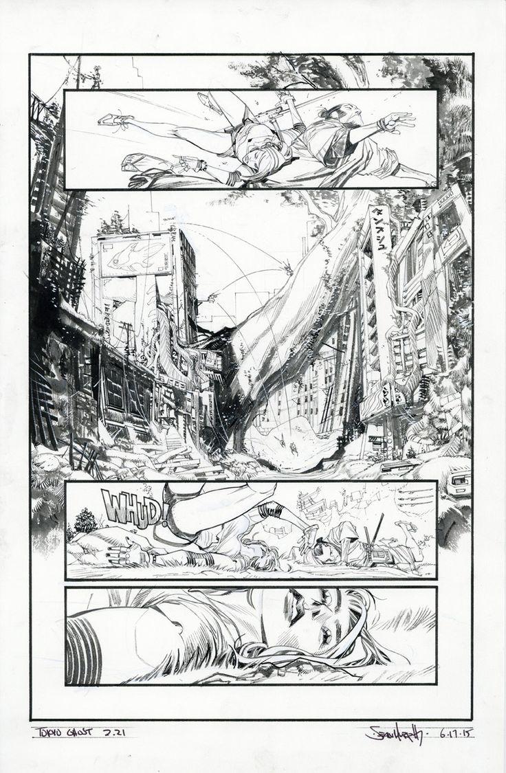 Tokyo Ghost / Original art by Sean Gordon Murphy in category Strips