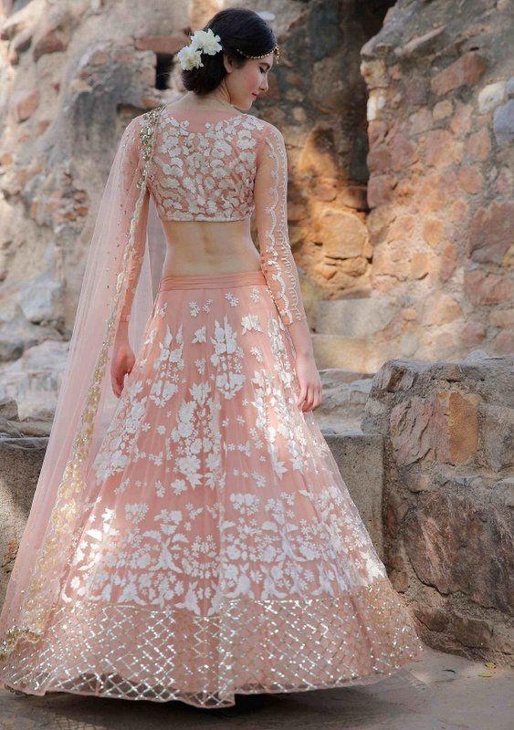 Light pink lehenga by Astha Narang