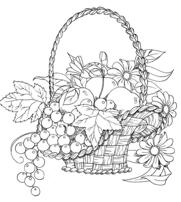 Patrones De Canasta De Frutas Para Descargar Y Bordar Momovipro Bodegon Para Colorear Paginas Para Colorear De Flores Canasta De Frutas