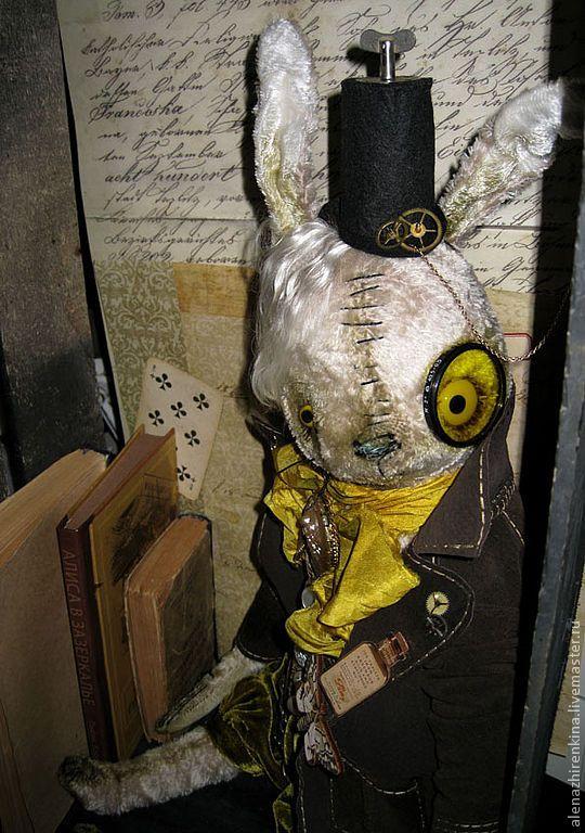 Купить МАРТОВСКИЙ ЗАЯЦ STEAMRUNK - заяц, кролик, алиса, алиса в стране чудес, Алёна Жиренкина