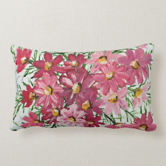 Pink Petals Lumbar Pillow Zazzle Com Pink Petals Pillows Floral Pillows