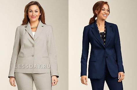 Юбки и юбочные костюмы для полных женщин фото