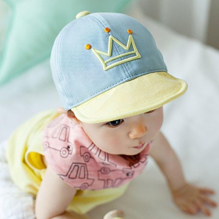 Младенческая Baby Boy/Девушки Письмо Печатные Шляпа Регулируемые Бейсбол Snapback Cap 1-3Y