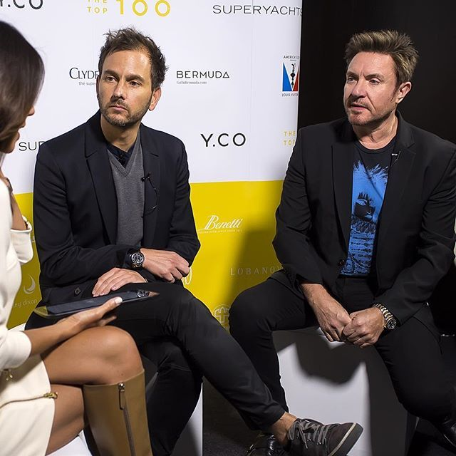 See the full interview with BLUE's Ambassador, #simonlebon @simonjclebon and BLUE's co-founder @cgorellbarnes at the @superyachtsdotcom Top 100 Event 2016. Link in BLUE's bio. #bluemarinefoundation #oceans #save thesea #superyacht #fish