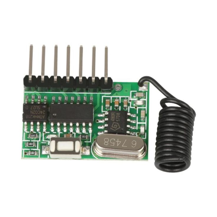 433MHz RF Superheterodyne Receiver Switch Module Learning Portal Code Fixed Crane Control DC Electric Machine Remote Control #Affiliate