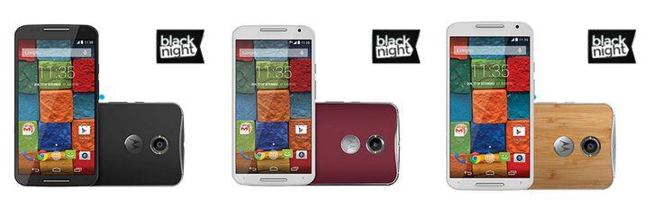 """Motorola Moto X 2ª Geração Android 4.4 Tela 5.2"""" 32GB 4G Wi-Fi Câmera 13MP GPS - Preto Vermelho ou Bambu << R$ 94410 >>"""