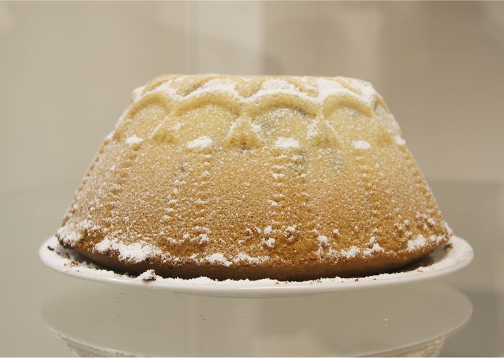 Easter cake mold  Porcelain mold for easter cake.  Regional pattern shows up when you sprinkle cake with powdered sugar.