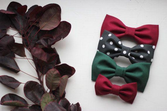 Christmas Bowties  Garnet Red bowties  Festive bow by everDapper