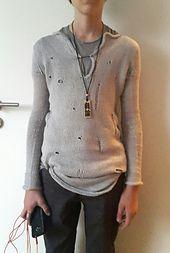Ravelry: vvivianne's Punkrock Meets Grandpa Sweater