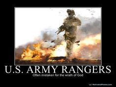U.S. Army Rangers - proud of my stepson who is in Army Ranger school.