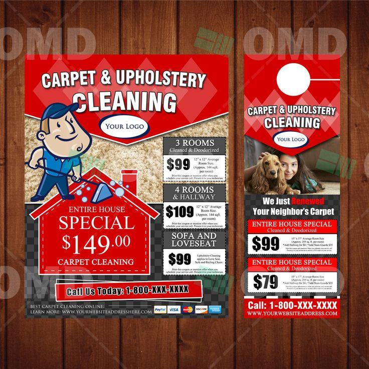 Custom Carpet Cleaning Door Hanger Amp Flyer Design Done